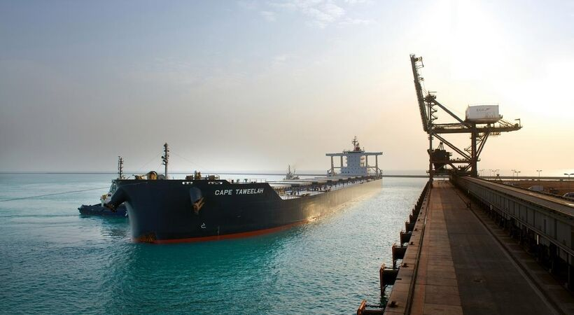 EGA and Abu Dhabi Ports welcome largest bulk cargo ship to ever call at Khalifa Port