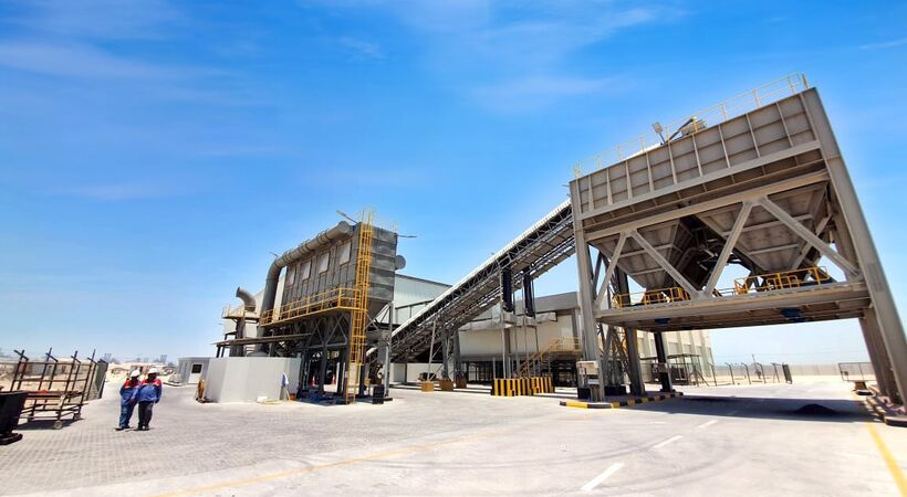 EGA starts-up new AED 15 million spent pot lining pre-treatment and crusher facility