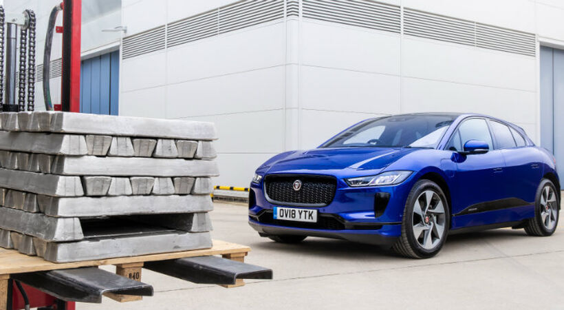 Jaguar Land Rover (JLR) testing use of recycled aluminium for use in future vehicles