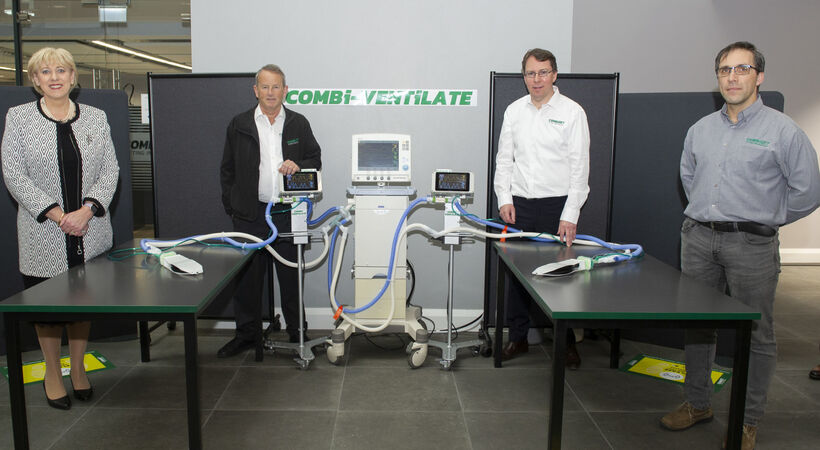 Combi-Ventilate: Turning one ventilator into multiple engineered ventilation stations