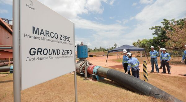 Hydro Paragominas bauxite pipeline in Brazil halted for extended maintenance